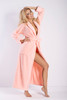 Eliza Long Dressing Gown Salmon