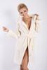 Diana Hooded Dressing Gown  Ecru