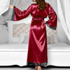 Sexy Silk Satin Kimono Lace Robe 17