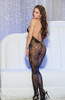 Stunning Stretch Lace Open Bodystocking Back