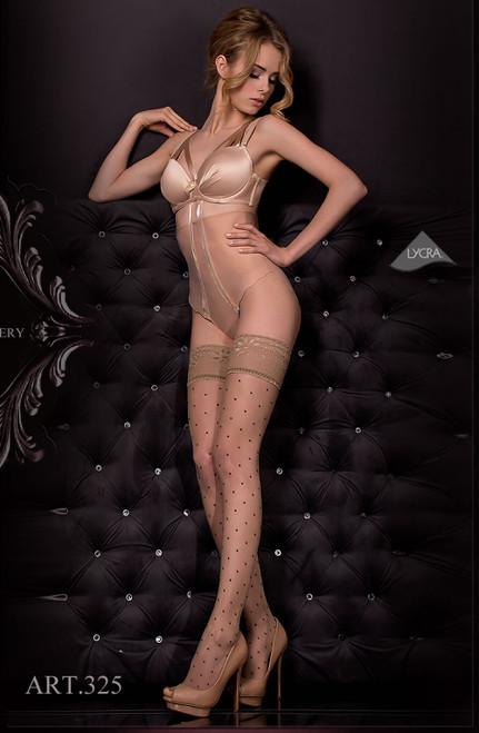 Ballerina Hold Ups Nero (black) / Skin Full