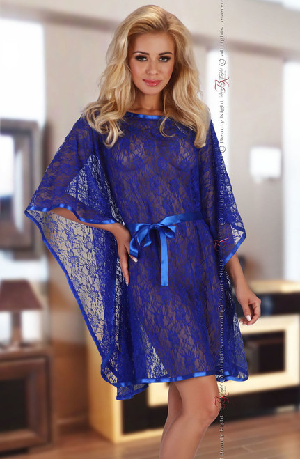 Sexy Stretch Lace Poncho Set Front Standing