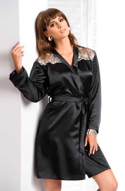 Irall Ida Dressing Gown Black