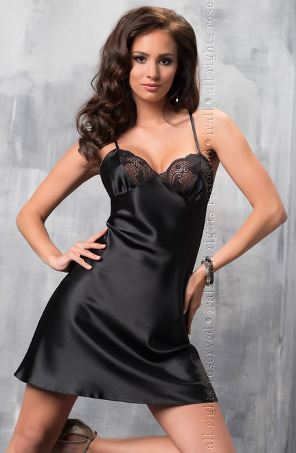 Irall Sharon Nightdress Black 1