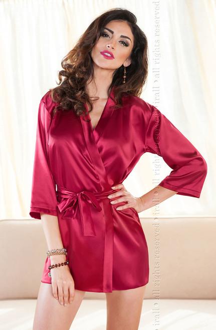 Aria Dressing Gown Burgundy