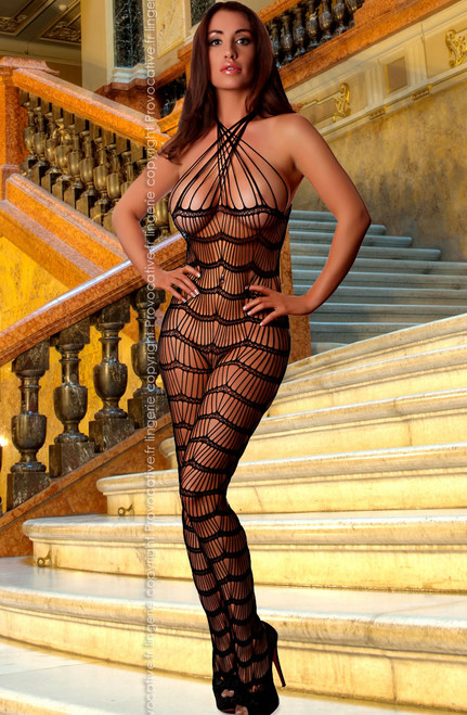 Fishnet Bodystocking Slinky See Through Front
