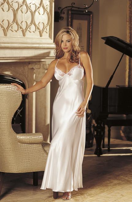 4fc5ca8cedf7 Elegant Long Lace Gown SOH White Large