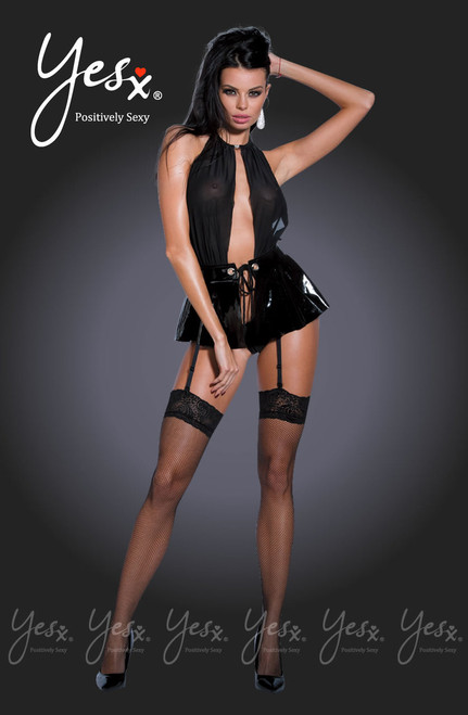 YesX Shiny Pvc Skirt Wraps YX341 Front CBG