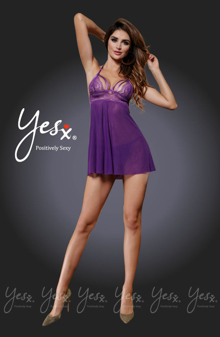 YesX Lace Babydoll Dress Front CBG