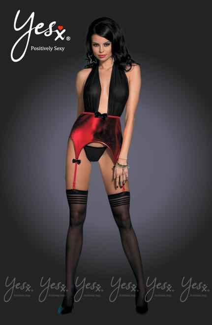 YesX Sexy Red/Black Teddy Set YX934 Front CBG