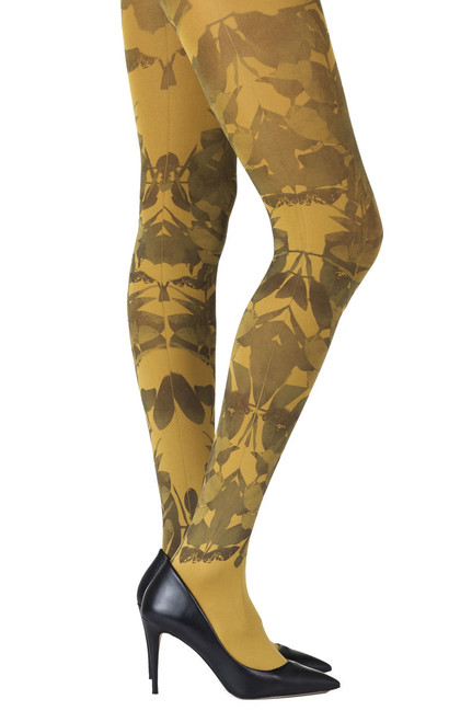 Zohara Don't Leave Me Mustard Tights