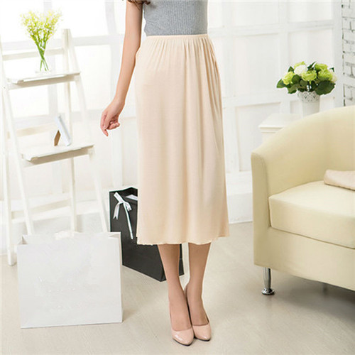 Half Slips Modal Solid Skirt