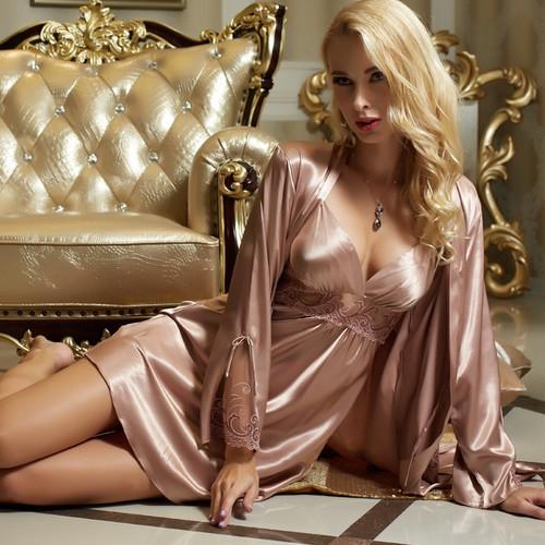 Sexy Satin Silk Robe