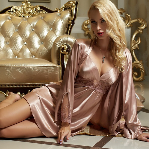 Sexy Satin Silk Robe