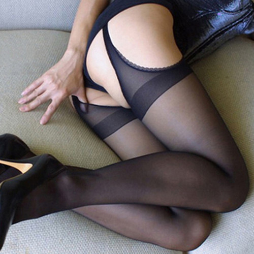 Sexy Crotchless  Sheer Pantyhose