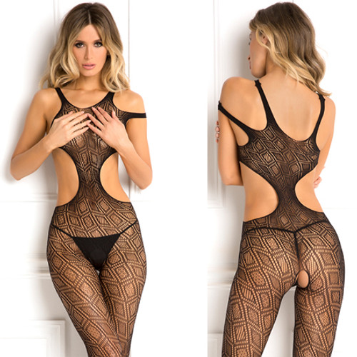Made The Cut Bodystocking Black O/S