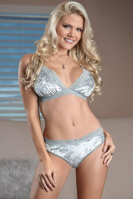 Velvet Moon Bralette & Panty Magic Silk