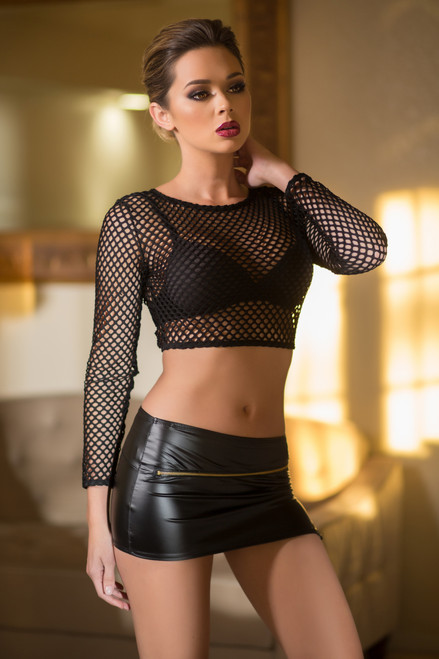 Sizzling Zipper Mini Skirt