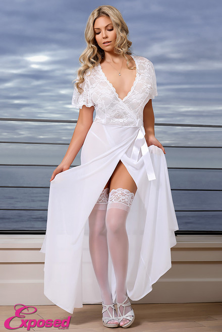 Robe & G-Set #B563  XL WHT
