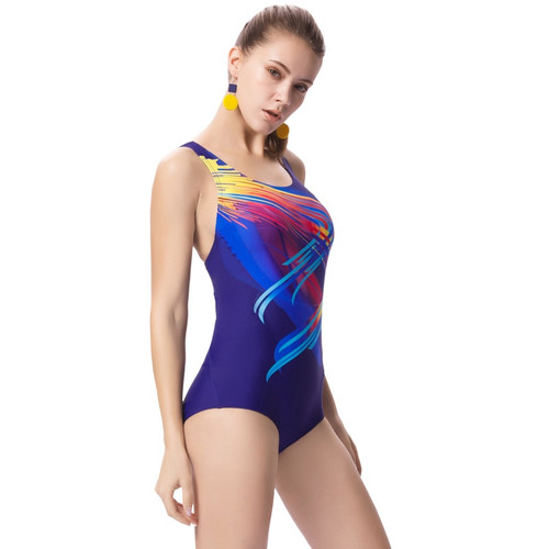 One Piece Swimsuit Geometry Print