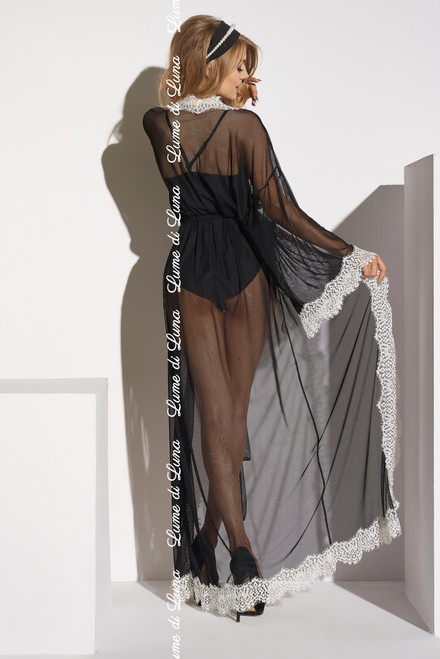 Ardea Long Robe Black Back