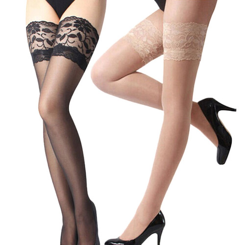 Top Silicone Band Stay Up Thigh High Stockings Pantyhose