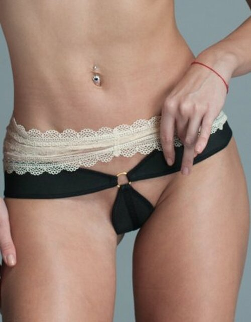 Chip Thong Shaper Rubber Elastic and Lace Front