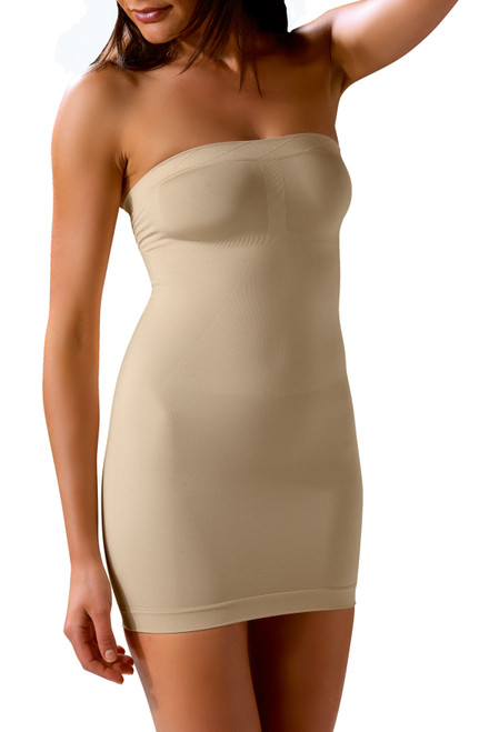 Control Body Strapless Shaping Dress Front Skin