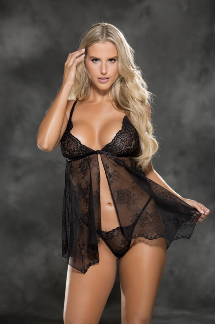 Babydoll Lace Front BLACK