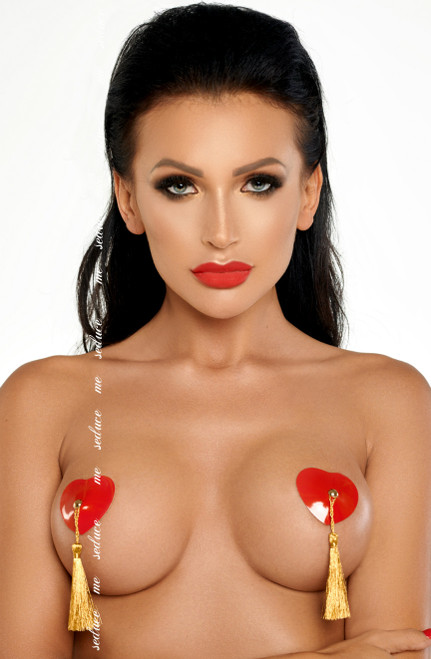 Red/Gold Nipple Cover Tassel
