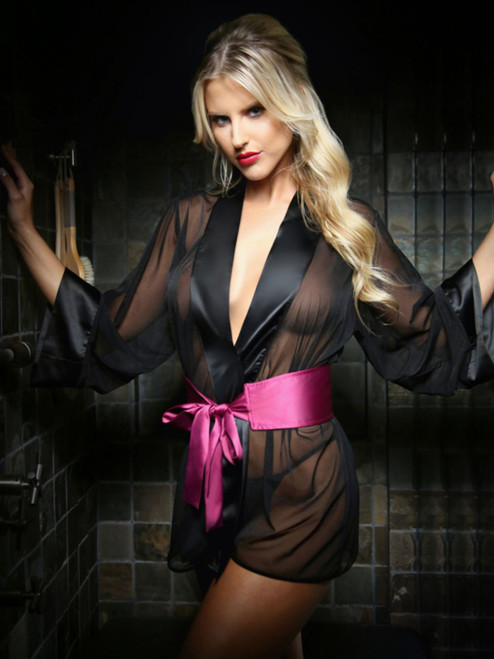 Sexy Dressing Robe & Panty Set Front