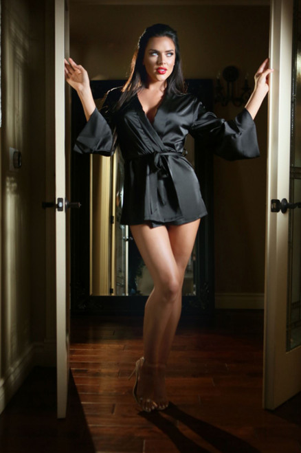 Satin Doll Dressing Robe Front