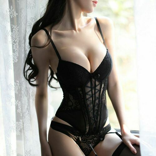 Sexy Lace Up Breathable Corset Bustier 1