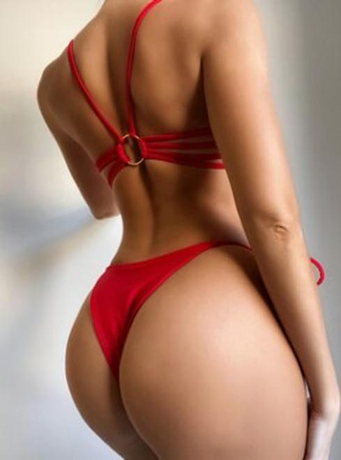 Sexy Padded Thong Red Bikini