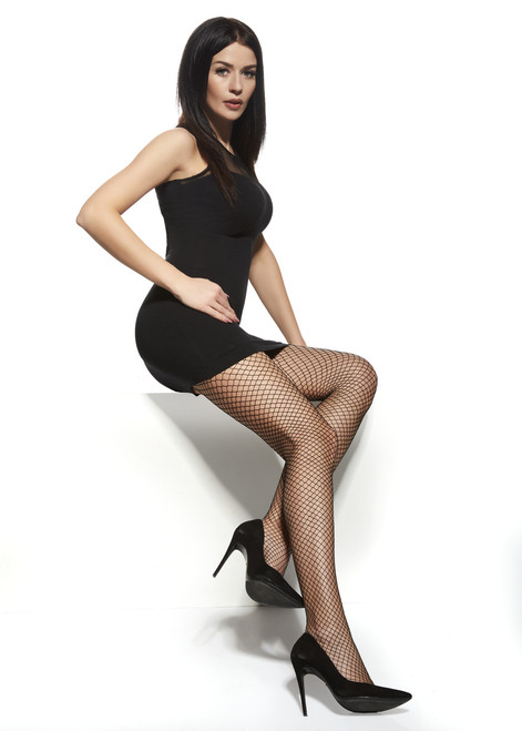 Afrodyta Patterned Tights with Fishnet #10
