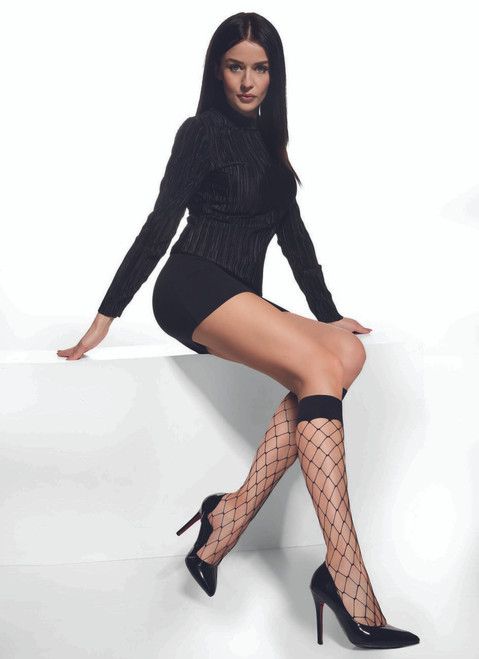 Octan High Knee with Fishnet (Big Holes) #19