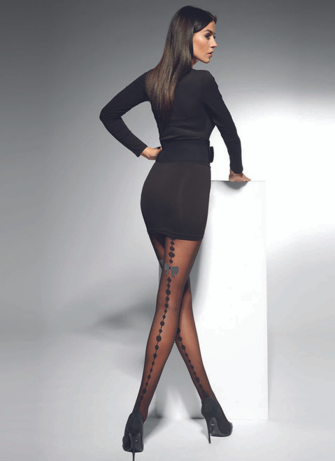Lidia  Patterned Tights With STONE #34