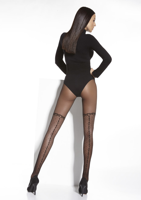Chantel  Patterned Tights Back