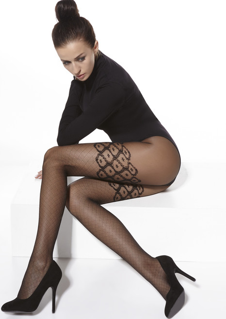 Lucy  Patterned Tights Sitting