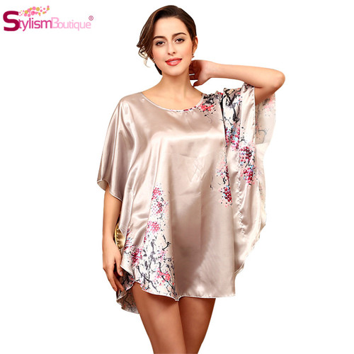 Nightgowns Mini Batwing Sleeve Nightwear