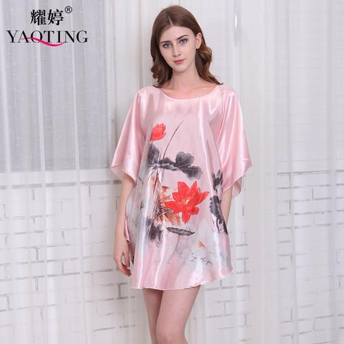 Silk Rayon Mini Nightgowns Plus Size