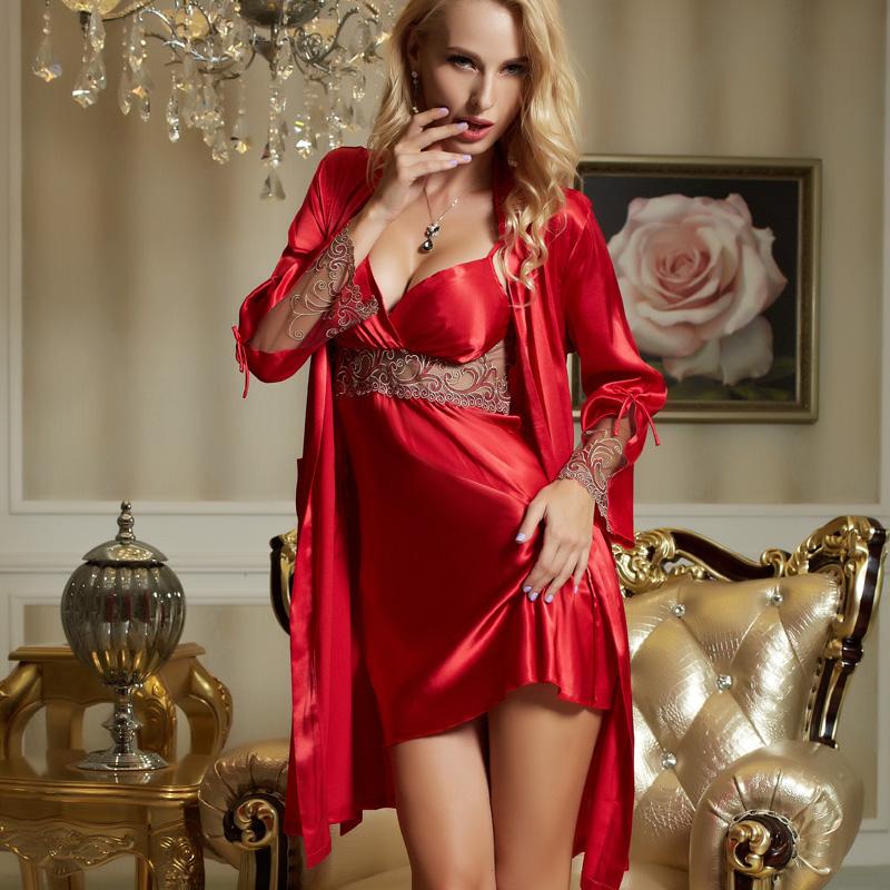 b8588362de70 ... Sexy Satin Silk Robe ...