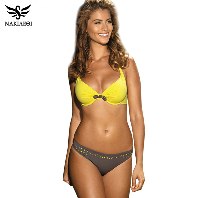 189f5b5399 BikiniRetro Vintage Bikini Set Plus Size Swimwear