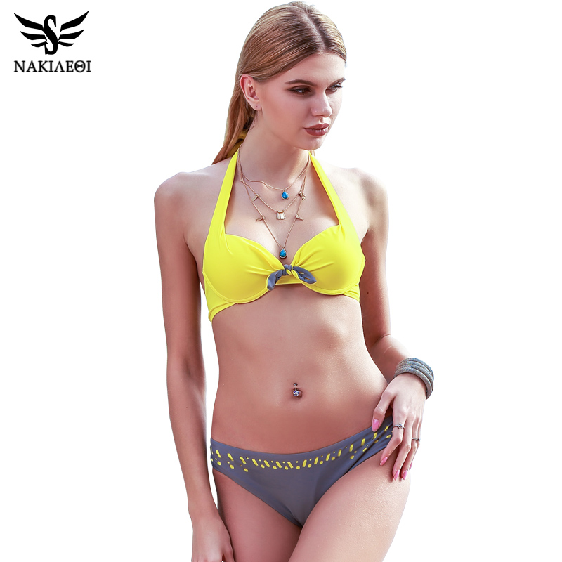 25161e4568 ... Retro Vintage Bikini Set Plus Size Swimwear ...