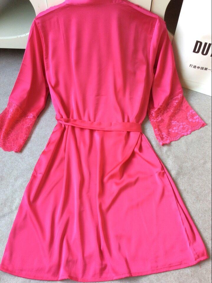 Nightgowns Mid-Sleeve Plus Size M L Xl Xxl Lace Real Silk 3c032c6c8
