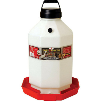 Little Giant 7 Gallon Capacity Automatic Poultry Waterer for Chickens, Red