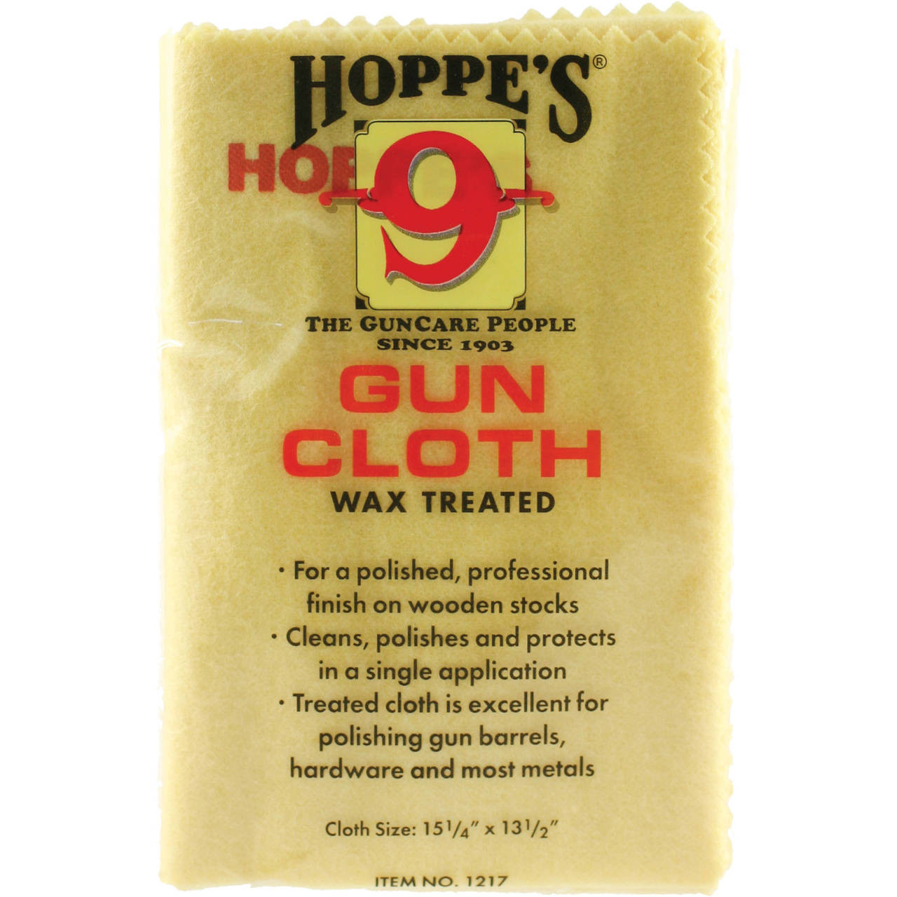 Hoppes No 9 Gun /& Reel Silicone Treated Cleaning Polishing Cloth 1218 NEW