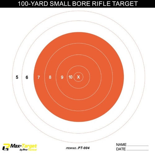 small bore paper shooting target orange