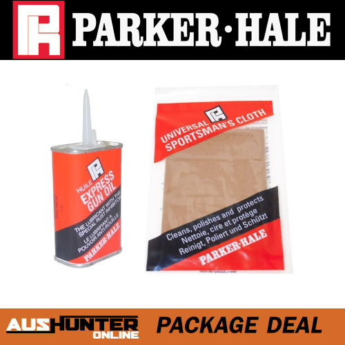 parker-hale express gun oil & silicone cloth package