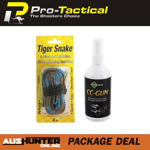 max-clean tiger snake bore cleaner .22cal & forgun cc-gun oil & preservative spray